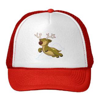 Cute Flying Reindeer Trucker Hat