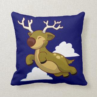 Cute Flying Reindeer Throw Pillows