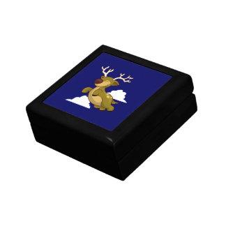 Cute Flying Reindeer Trinket Boxes