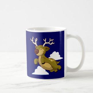 Cute Flying Reindeer Coffee Mug