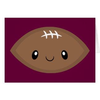 Cute Football Emoji Card