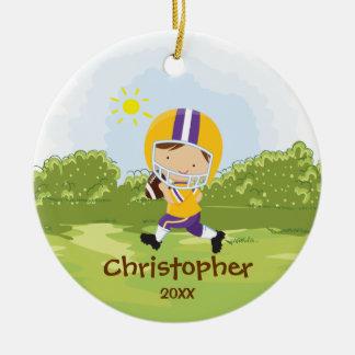 Cute Football Player Sport Christmas Ornament
