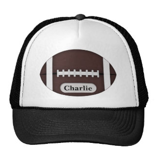 Cute Football with Customizable Name Trucker Hat