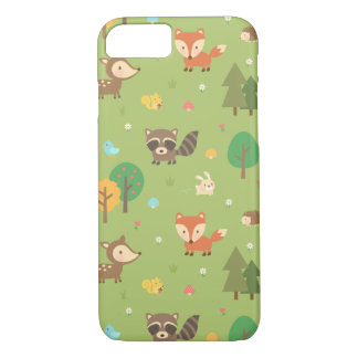 Cute Forest Woodland Animal Pattern iPhone 8/7 Case