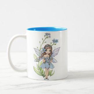 Cute Forget Me Not Flower Fairy Mug