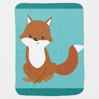 Cute Fox Baby Blanket