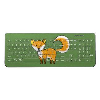 cute fox forest animal cartoon wireless keyboard