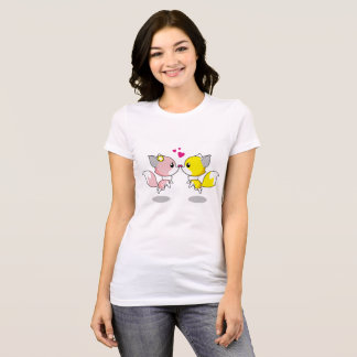 Cute Fox In Love T-Shirt