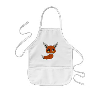 cute fox kids apron