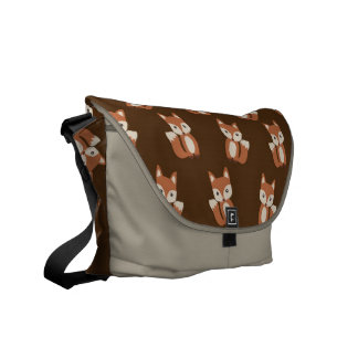 Cute Fox Pattern Courier Bag