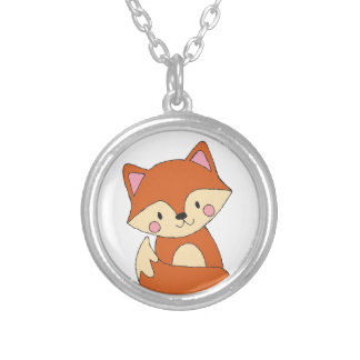 Cute Fox Silver Plated Necklace