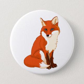 Cute Fox Sitting Button