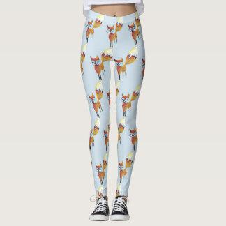Cute Foxx Pattern Leggings