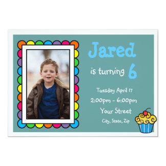 Cute Framed Kids Birthday Invite
