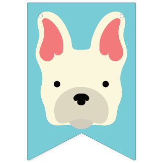 Cute French Bulldog. Bunting