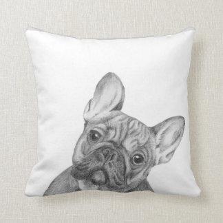 Cute French Bulldog cushion by Tracy Stone