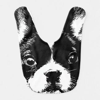Cute French Bulldog Dog Face Baby Bibs