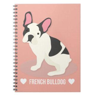 Cute French Bulldog. Notebooks