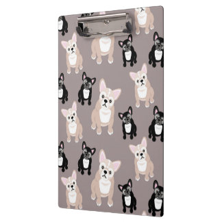 Cute French Bulldog Puppies Clipboard