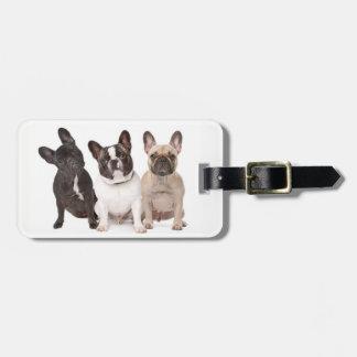 Cute French Bulldog Puppies Luggage Tag