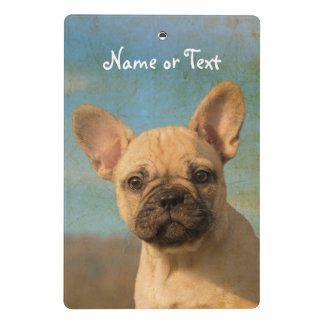 Cute French Bulldog Puppy Vintage  - Personalized Mini Clipboard