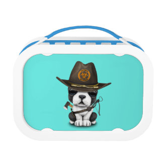 Cute French Bulldog Puppy Zombie Hunter Lunch Box