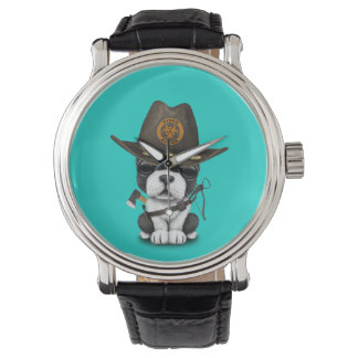 Cute French Bulldog Puppy Zombie Hunter Watch