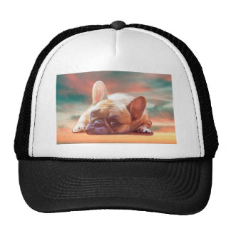 Cute French Bulldog Water Color Art Painting Cap