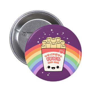 Cute French Fries 6 Cm Round Badge