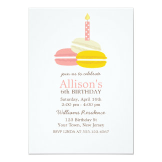 Cute French Macarons Birthday Card