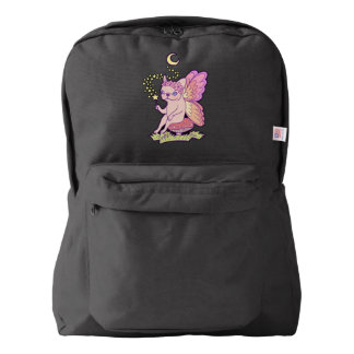 Cute Frenchie fairy is casting a magical spell Backpack
