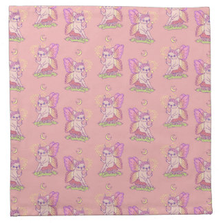 Cute Frenchie fairy is casting a magical spell Napkin