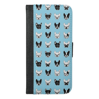 Cute Frenchies Doggie Family Collage iPhone 6/6s Plus Wallet Case