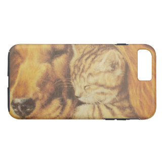 Cute Friendly Cat & Dog iPhone 8 Plus/7 Plus Case