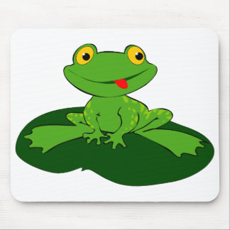 Cute Frog 2 Mouse Pad