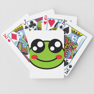 Cute Frog Bicycle Playing Cards