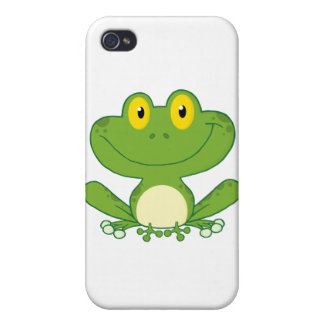 Cute Frog Cartoon Character Cases For iPhone 4