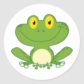 Cute Frog Cartoon Character Stickers