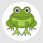 Cute Frog Cartoon - Prince in Training Round Stickers
