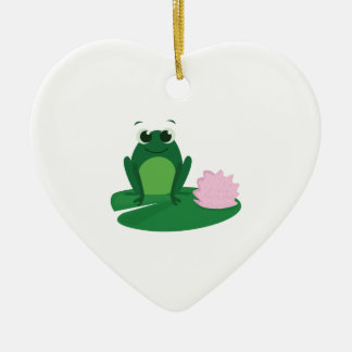 Cute Frog Ceramic Ornament