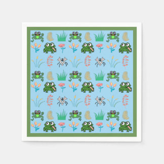 Cute Frog Cocktail Party Napkins Disposable Napkin