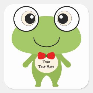 Cute Frog (customizable) Square Sticker