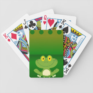Cute Frog Design Bicycle Playing Cards