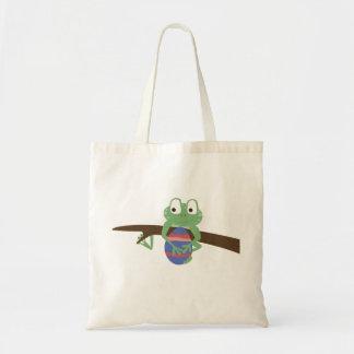Cute Frog Easter Tote Bag!