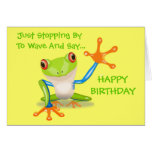 Cute Frog Funny Animal Kids Happy Birthday Greeting Card