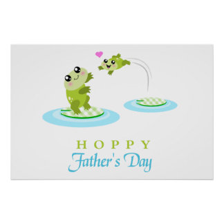 Cute Frog Hoppy Happy Father s Day Print
