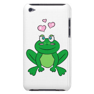 Cute frog in love barely there iPod covers
