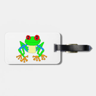 Cute frog tag for luggage