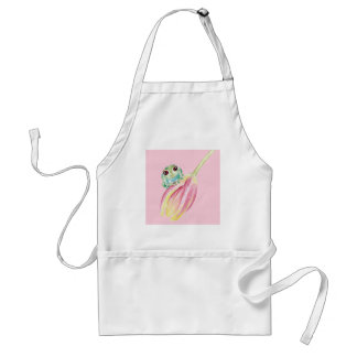 Cute Frog On Pink Standard Apron