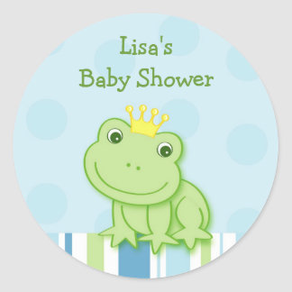 Cute Frog Prince Shower Envelope Seals Stickers
